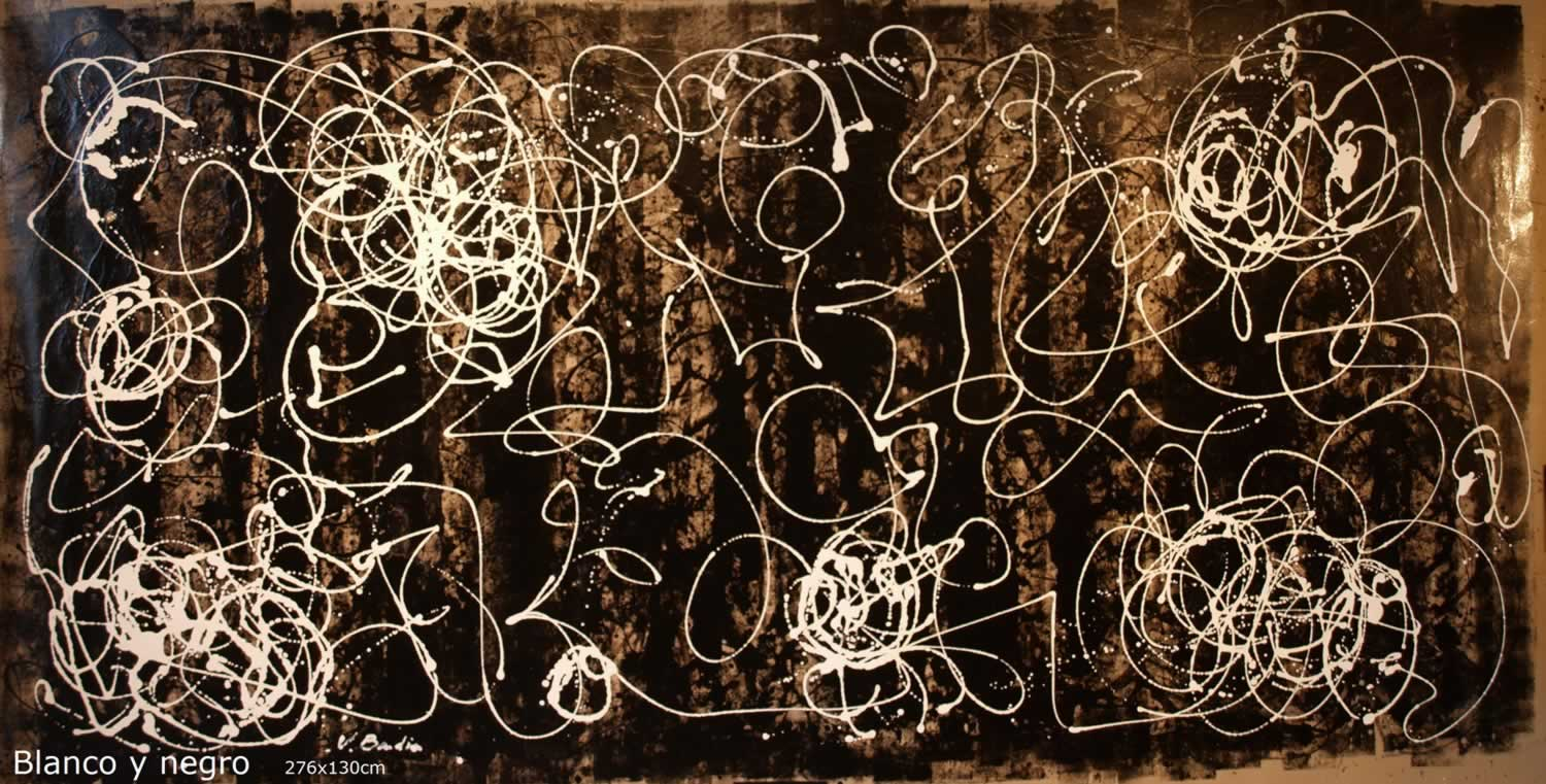 Painting abstract gallery - Blanco y negro paint ...